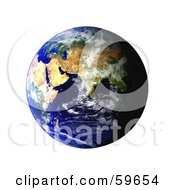 Royalty Free RF Clipart Illustration Of A World Globe Featuring The East Version 2