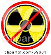 Royalty Free RF Clipart Illustration Of A Yellow Radiation Prohibited Sign On White