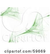 Royalty Free RF Clipart Illustration Of A Random Green And White Fractal Background