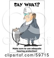Royalty Free RF Clipart Illustration Of A Jackhammer Operator Covering His Ears by djart