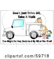 Royalty Free RF Clipart Illustration Of A Man Setting Out Cones Near Kids by djart