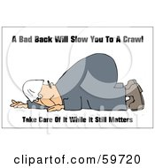 Royalty Free RF Clipart Illustration Of A Hurt Worker Man Down On The Ground by djart