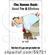 Royalty Free RF Clipart Illustration Of A Man Bending Over And Hurting His Back by djart