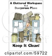 Woman In A Cluttered Cubical