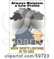 Worker Man On The Ground Under Lightning