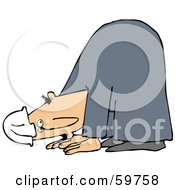 Royalty Free RF Clipart Illustration Of A Hurt Man Bent Over And Walking On All Fours by djart
