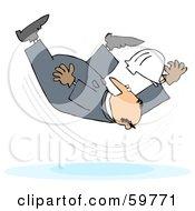 Male Worker Taking A Fall On A Slipper Floor