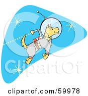 Royalty Free RF Clipart Illustration Of A Astronaut Space Dog Jetting Around In Space by xunantunich