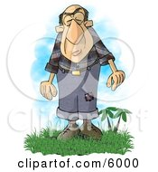 Giant Man With A Condition Known As Acromegaly Clipart Picture