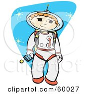 Royalty Free RF Clipart Illustration Of A Space Boy Exploring The Universe