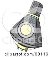 Royalty Free RF Clipart Illustration Of A Floating Mercury Spacecraft by xunantunich
