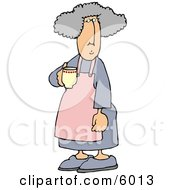Housewife Drinking A Cup Of Coffee In The Morning
