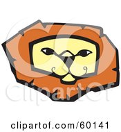 Royalty Free RF Clipart Illustration Of A Confident Lion Face by xunantunich