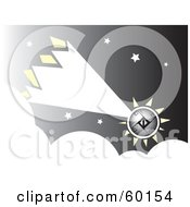 Royalty Free RF Clipart Illustration Of A Shooting Comet Over Clouds In A Starry Sky