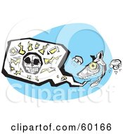 Royalty Free RF Clipart Illustration Of A Tribal Hyena With A Human Skull