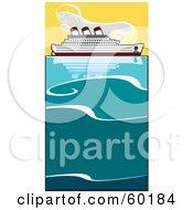 Cruiseliner On The Ocean