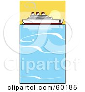 Royalty Free RF Clipart Illustration Of A Cruiseliner On Still Blue Waters