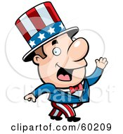 Royalty Free RF Clipart Illustration Of A John Man Character In An Uncle Sam Suit