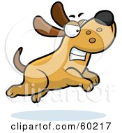 Royalty Free RF Clipart Illustration Of An Angry Max Dog Character Chasing