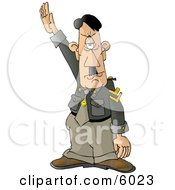 Hitler Adolf Saluting A Crowd At A Rally Clipart Picture by Dennis Cox