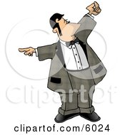 Dining Room Attendant Whos In Charge Of The Waiters And The Seating Of Customers Clipart Picture