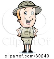 Royalty Free RF Clipart Illustration Of An Energetic Safari Boy Standing With His Hands On His Hips