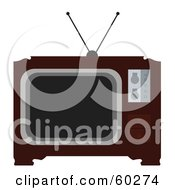Royalty Free RF Clipart Illustration Of A Old Fashioned Wood Box TV