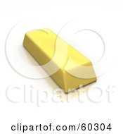 Royalty Free RF Clipart Illustration Of A Single Gold 3d Bar