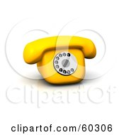 Royalty Free RF Clipart Illustration Of A Cute Old Fashioned 3d Telephone by Jiri Moucka