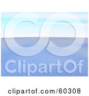 Royalty Free RF Clipart Illustration Of A Nature Seascape Of Rippling Ocean Water Under A Blue Sky by Jiri Moucka