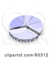 Royalty Free RF Clipart Illustration Of A 3d Pale Blue Pie Chart by Jiri Moucka