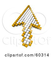 Royalty Free RF Clipart Illustration Of A White And Orange Arrow Shaped Computer Cursor Pointer by Jiri Moucka