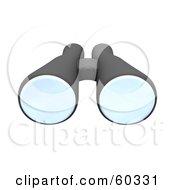 Pair Of 3d Black Binoculars