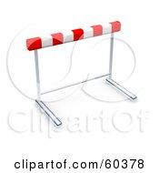 Royalty Free RF Clipart Illustration Of A Single 3d Hurdle by Jiri Moucka #COLLC60378-0122