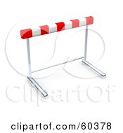 Royalty Free RF Clipart Illustration Of A Single 3d Hurdle by Jiri Moucka