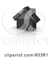 Royalty Free RF Clipart Illustration Of A Shiny 3d Black House by Jiri Moucka