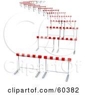 Royalty Free RF Clipart Illustration Of Curvy Path Of Hurdles