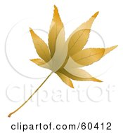 Royalty Free RF Clipart Illustration Of A 3d Brown Autumn Leaf