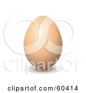 Royalty Free RF Clipart Illustration Of A Brown Organic Chicken Egg by Oligo