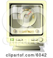 Old Fashioned Online Internet Radio Clipart Picture by djart