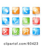 Royalty Free RF Clipart Illustration Of A Digital Collage Of Colorful Icon Buttons Online