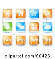 Royalty Free RF Clipart Illustration Of A Digital Collage Of Colorful Icon Buttons Website