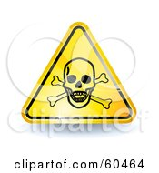 3d Shiny Yellow Poison Sign