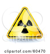 Royalty Free RF Clipart Illustration Of A 3d Shiny Yellow Radiation Sign