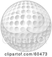 Royalty Free RF Clipart Illustration Of A New And Clean White Golf Ball With Dimples
