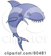 Purple Shark With Very Sharp Teeth