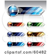Royalty Free RF Clipart Illustration Of A Digital Collage Of 3d Colorful Download Website Buttons by TA Images #COLLC60482-0125