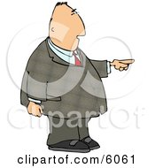 Businessman Pointing The Finger Clipart Picture
