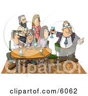Businessman Showing Up Late To An Office Party Clipart Picture