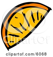 Orange Wedge Slice Clipart Picture